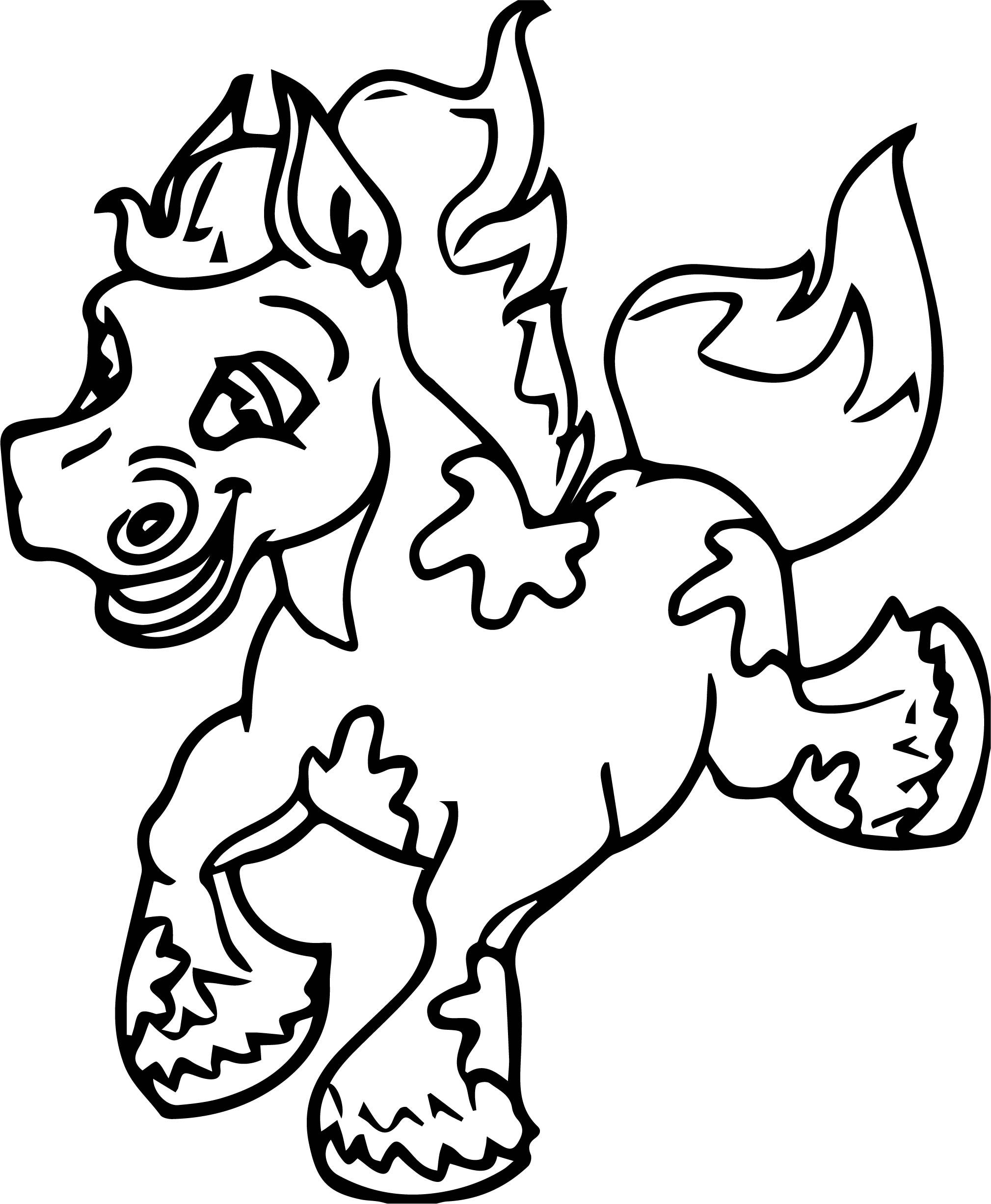 Cartoon Horse Coloring Page 41 Horse Coloring Pages Horse Coloring Dog Coloring Page