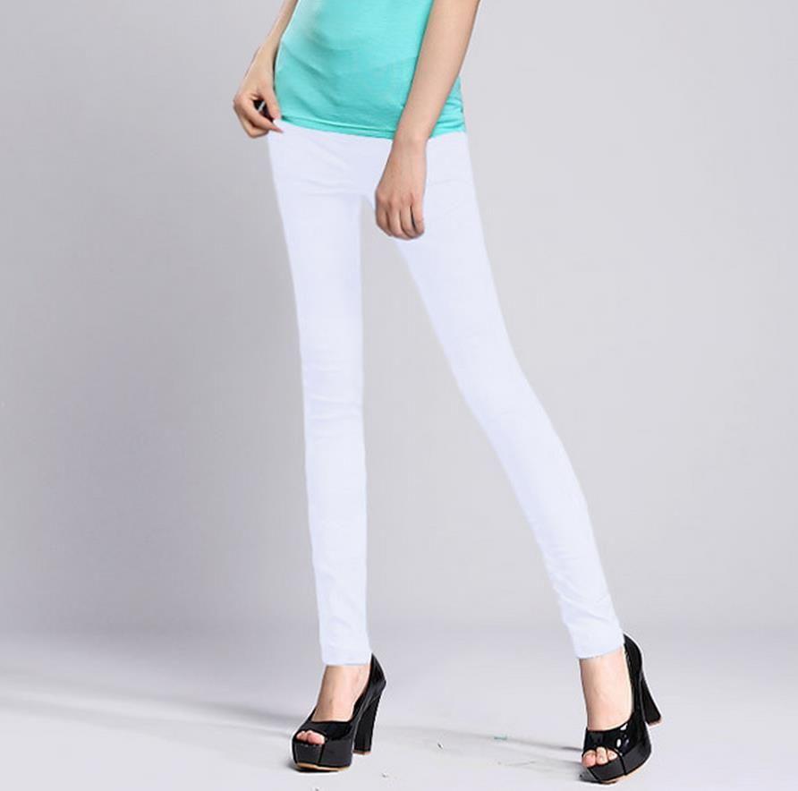 876510f21e5 Women s Summer Trouser Fashion Full Length Pocket Plus Size Elastic Waist  Casual Trousers Skinny Pure Color Pencil Pants