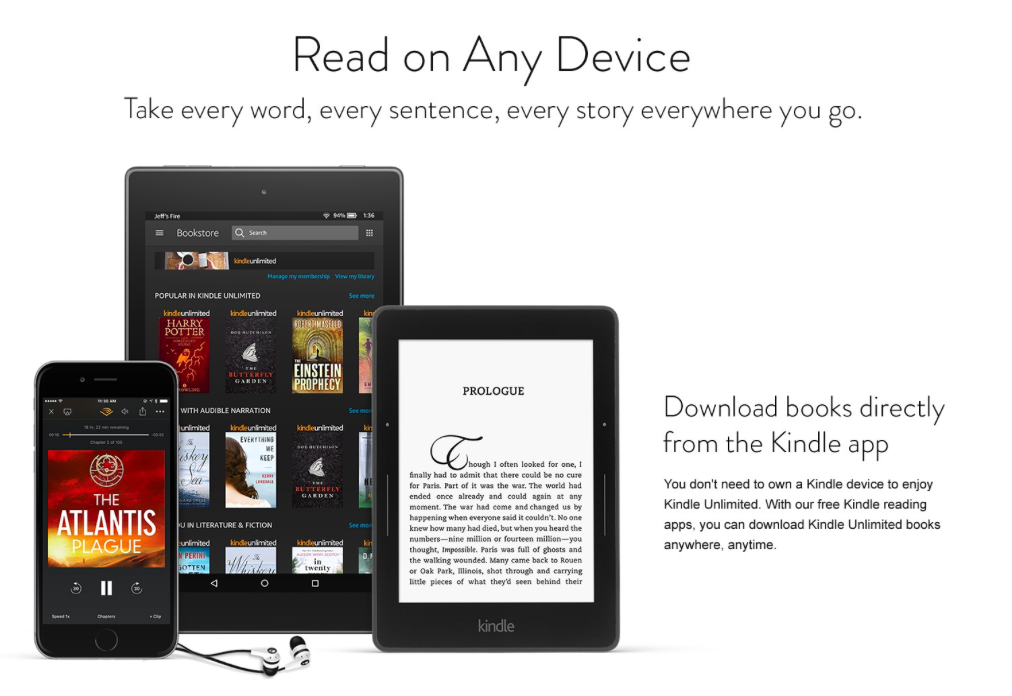 Kindle Unlimited Unlimited Reading. Unlimited Listening