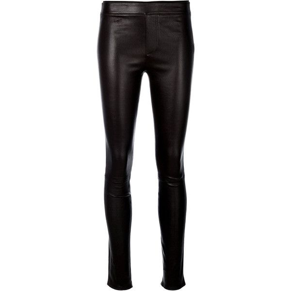 Helmut Lang lambskin leggings (€1.025) ❤ liked on Polyvore featuring pants, leggings, black, leather, leather pants, brown, lambskin pants, helmut lang leggings, lambskin leather pants and helmut lang pants