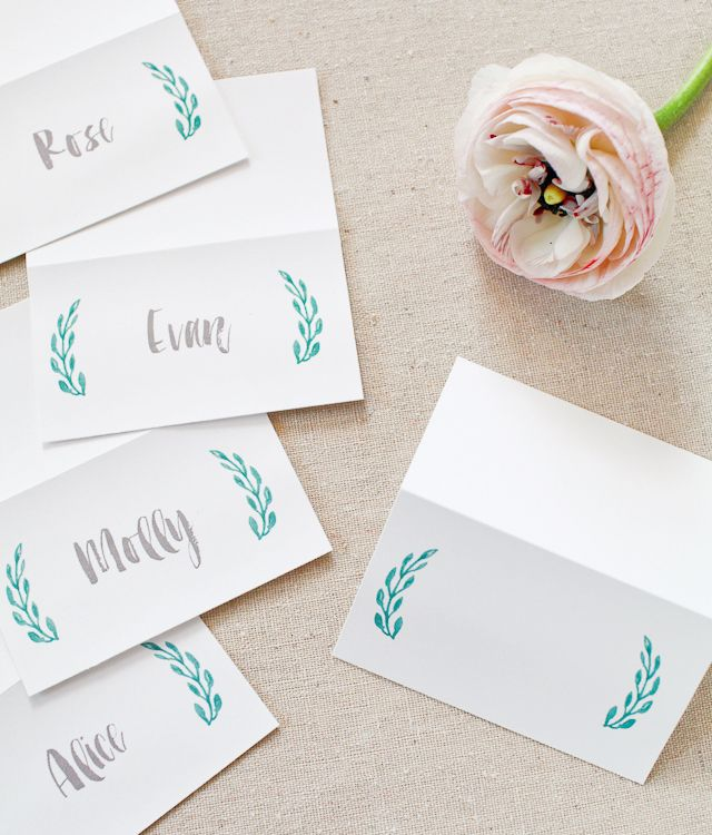 Printable Hand Lettered Watercolor Wedding Stationery Wedding