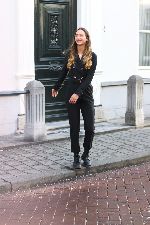 Verbazingwekkend Zwarte Jumpsuit Met Tailleriem   Zwart jumpsuit, Jumpsuit, Zwart XI-12