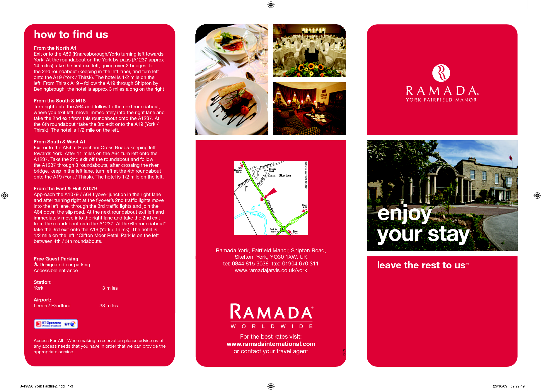 An eye catching tagline on your brochures grabs the attention of – Sample Hotel Brochure