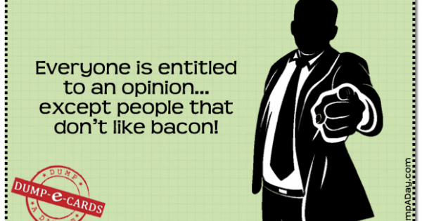 Memefrontier.com is showing off an amusing image | Your eCard | Bacon: The Only Meat Vegetarians Love To Eat