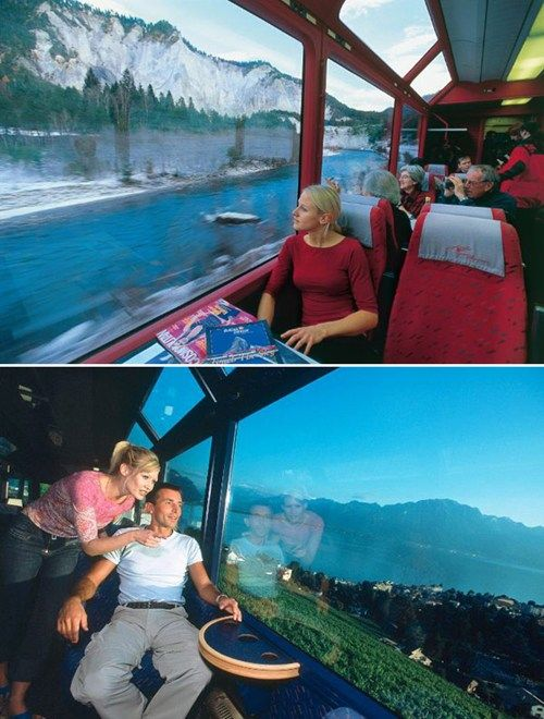 Switzerland's Glacier Express Shows Off the View