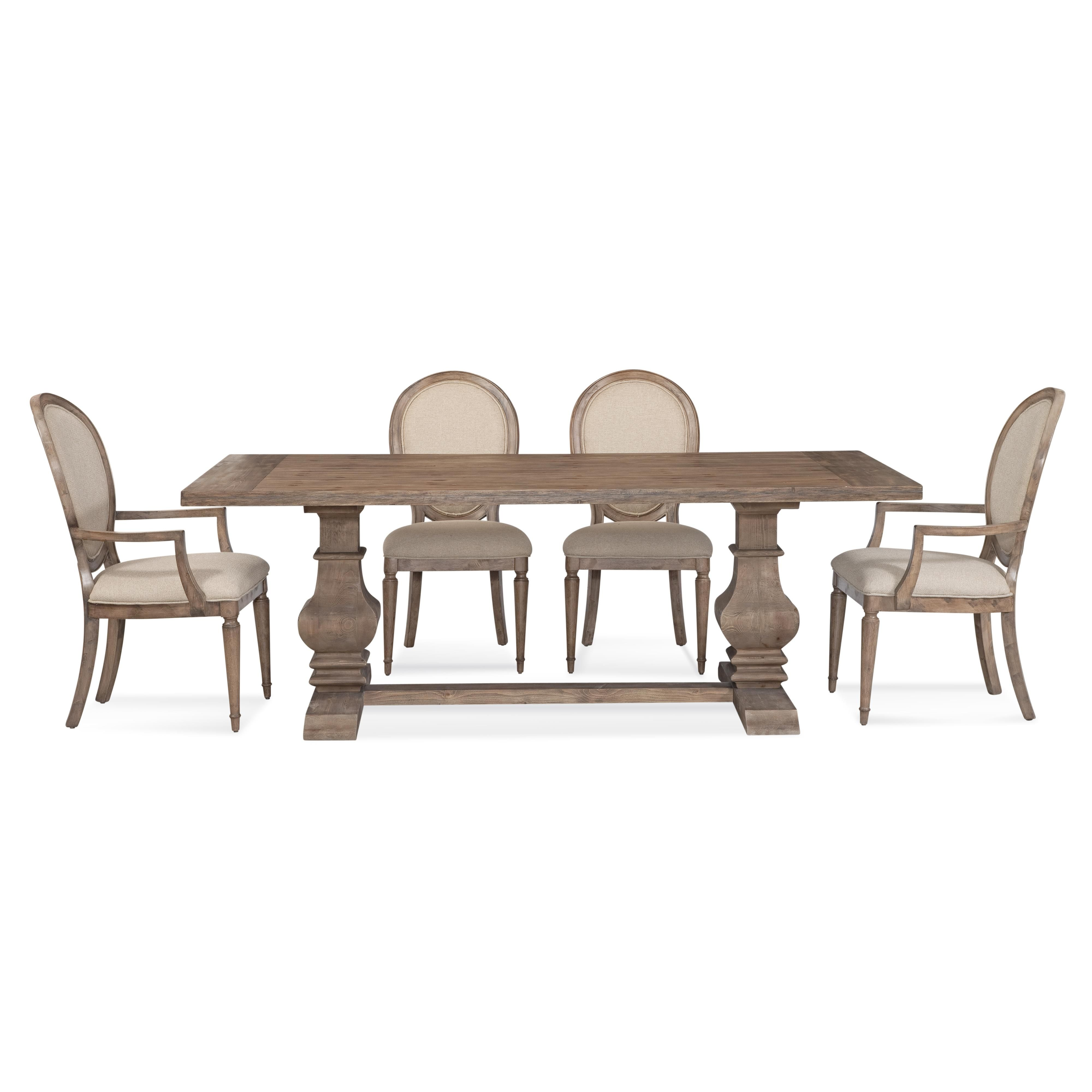 Room · Belgian Luxe Kinzie Casual Dining Set By Bassett Mirror