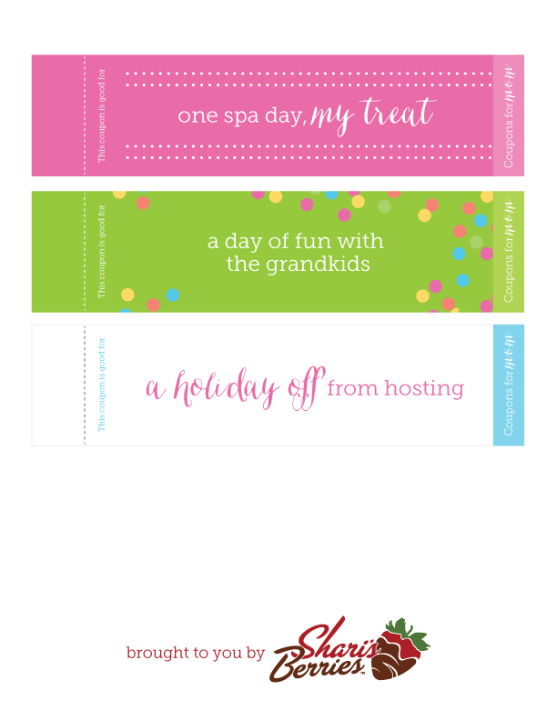 Printables Coupons For Mom Reinvented Shari S Berries Blog Mother S Day Coupons Celebrate Mom Free Printable Coupons