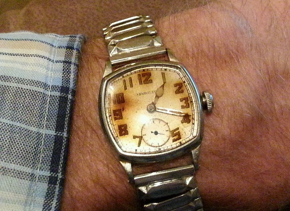 1927 HAMILTON Wristwatch & 1953 SPEIDEL Watch Band both 10K Gold Filled -  WORKS! #Hamilton