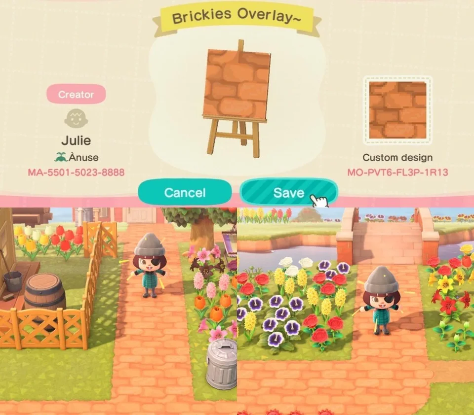 Super Happy With How My Bricks Turned Out I Wanted Something To Go Over The Standard Dirt Paths And I Animal Crossing New Animal Crossing Animal Crossing Game