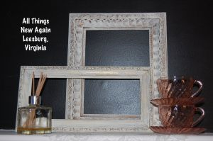 Empty frames can be hung on the wall in an interesting arrangement--or save some time and effort by just propping them up on a shelf or tabletop for a pretty display. www.allthingsnewagain.net