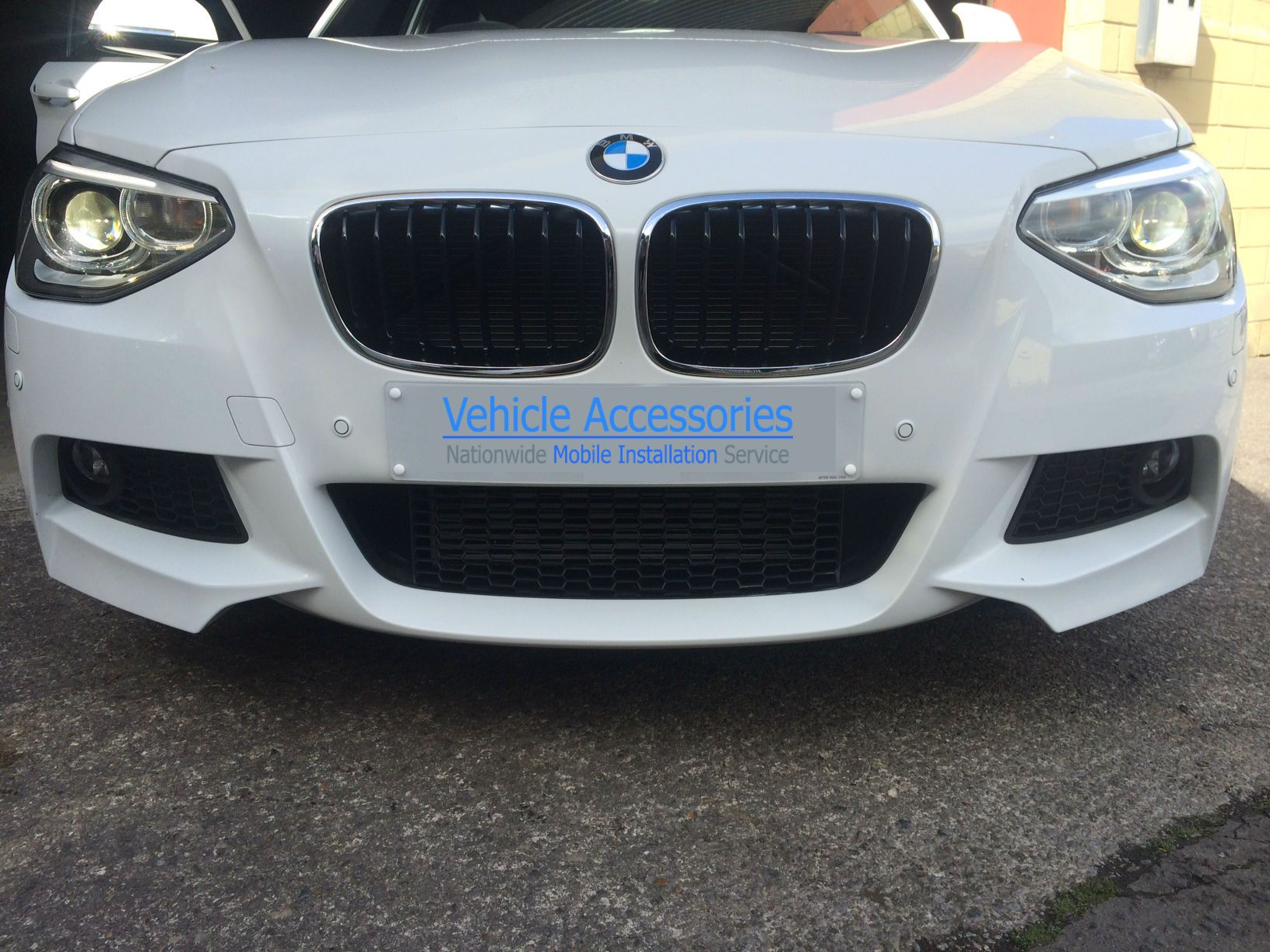 Front parking sensors fitted to a BMW  | Parking sensors