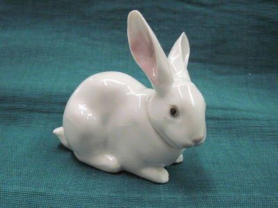 Mini Lop Rabbit Cute Ceramic Handmade Bunny Figurine Cute Animal Miniature Decor