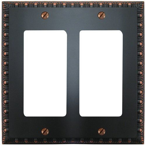 Amerelle Wall Plates Amerelle 90Rrvb Renaissance Cast Metal Double Gfi Rocker Switch Wall