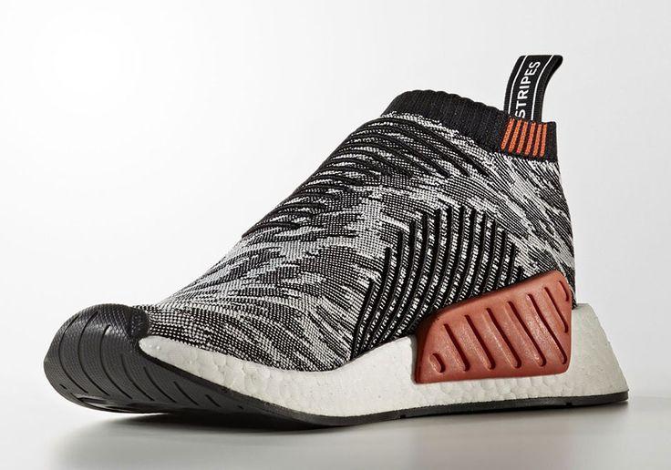 Mejores zapatos: adidas NMD CS2 glitch Rojo Negro Blanco 2 zapatos deportivos