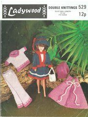 42398c11e8f Ladywood 529 doll clothes vintage knitting pattern ...