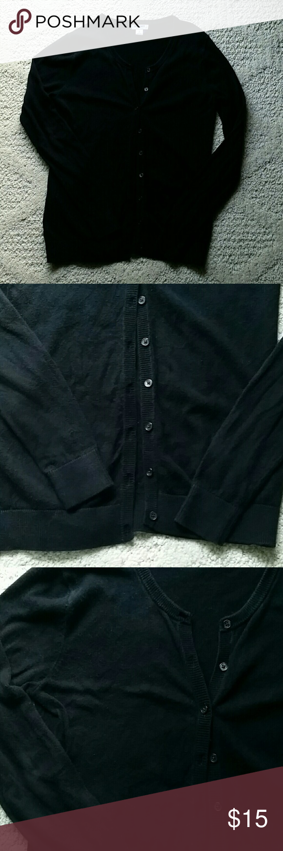 Old Navy black button down cardigan size XS | Black button, Navy ...