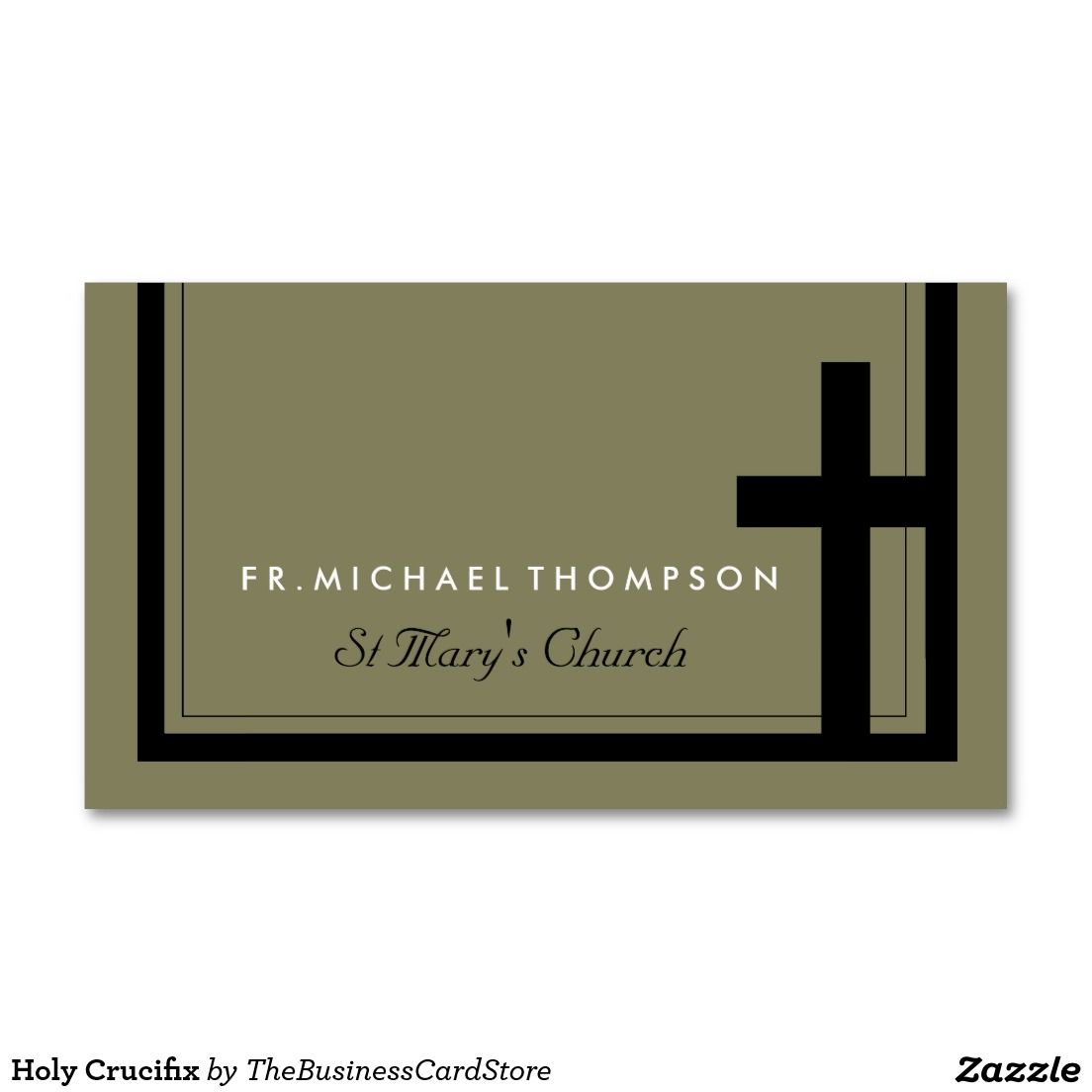 Holy Crucifix Double-Sided Standard Business Cards (Pack Of 100)