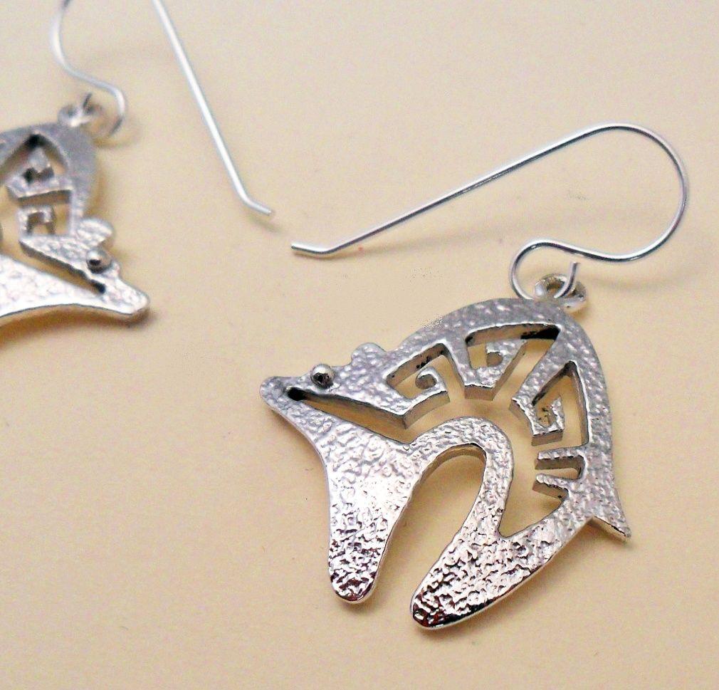 Navajo crafted tufa cast bear symbol earrings with cut away design navajo crafted tufa cast bear symbol earrings with cut away design motif buycottarizona Images