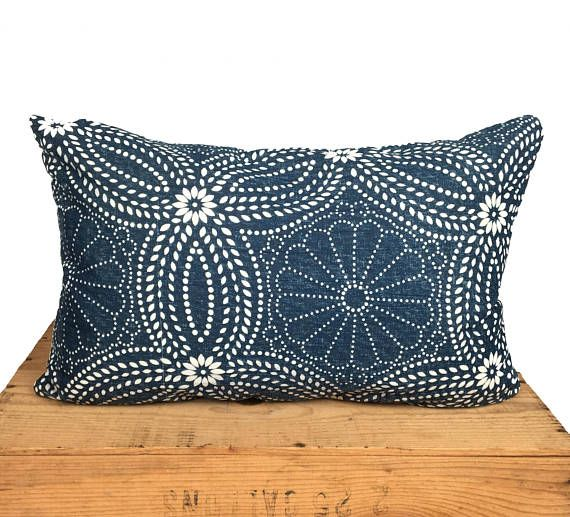 12X20 Pillow Insert Inspiration 12X19 Inch Finished Size To Fit A 12X20 Insertindigo Indian Block Decorating Inspiration