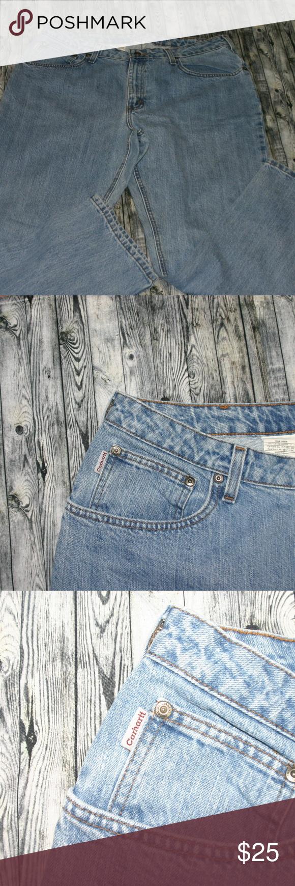 Carhartt women jean plus size 16 x 30. No stretch Carhartt Jeans Boot Cut #carharttwomen