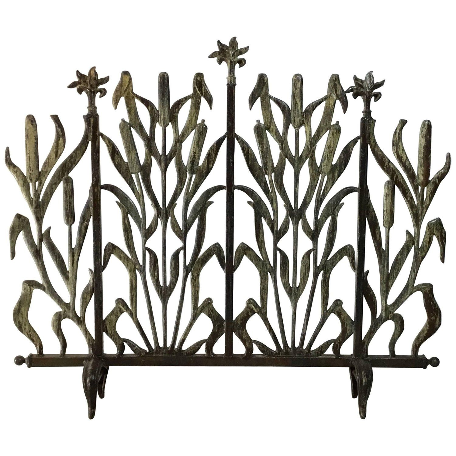 cat tail fireplace screen fireplace screens screens and fireplace