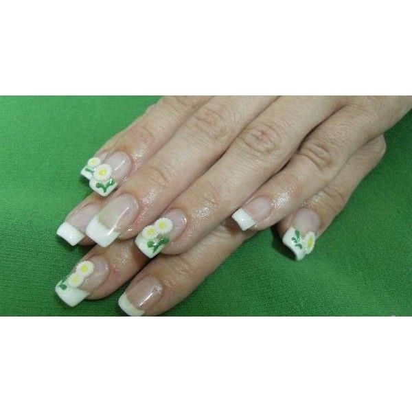Nails Art Mania (3D spring nails) via Polyvore | My Fashion World ...
