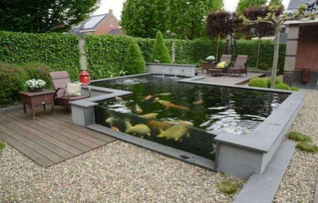8 Decorating Ideas For Fish Ponds On The Terrace Of Home For Coolness Of Residential Ponds Backyard Pond Design Fish Pond Gardens