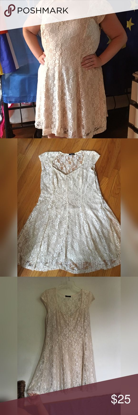 Selling this PLUS Stunning lace dress on Poshmark! My username is: nuclearhearts. #shopmycloset #poshmark #fashion #shopping #style #forsale #Dresses & Skirts