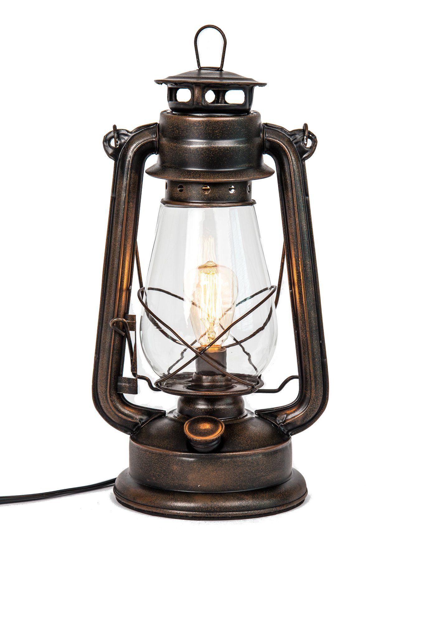 Electric Oil Lantern Table Lamp With Inline Dimmer On Plug In Cord By Muskoka Lifestyle Products Electric Lanterns Lantern Table Lamp Lantern Lamp