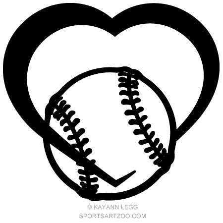 Baseball Heart Sportsartzoo Softball Softball Clipart Baseball Design