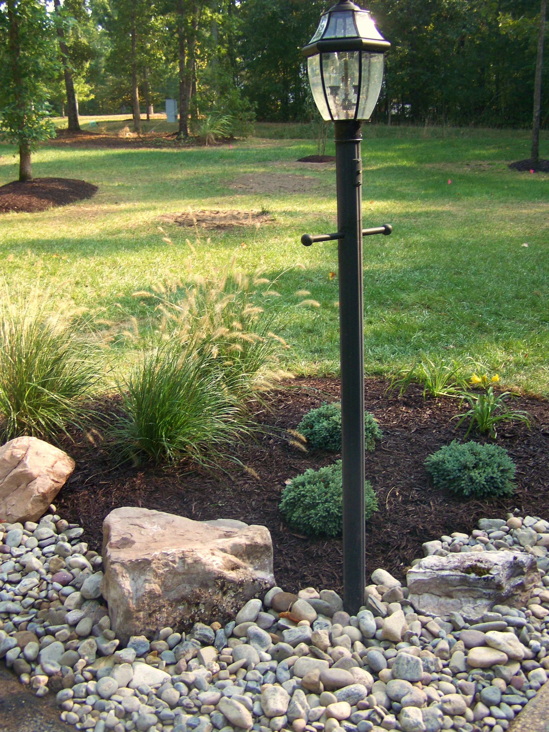 Dress Up Your Lamp Post Like Outdoor Dreams Of Facebook And You Wi Yard Landscaping Simple Front Yard Landscaping Simple Small Front Yard Landscaping
