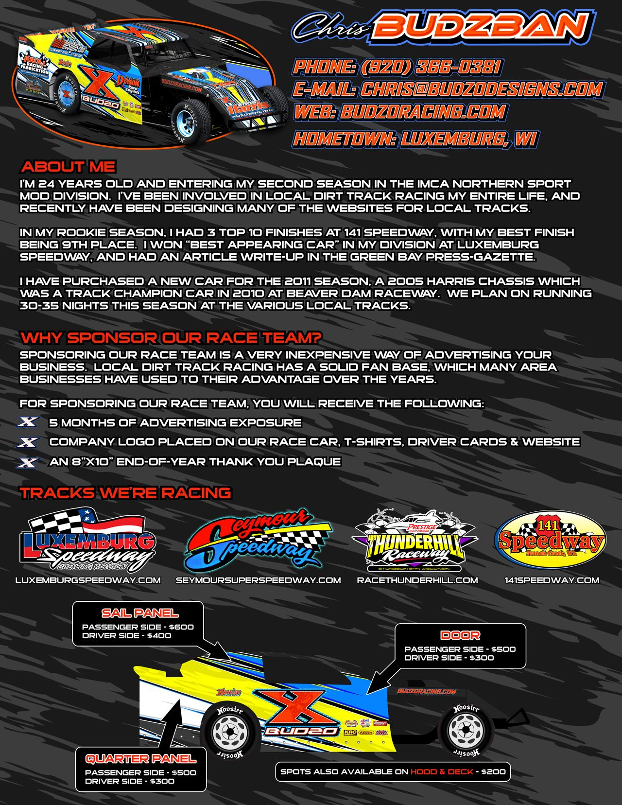 Racing sponsorship proposal google search peaches for Motorsports sponsorship proposal template