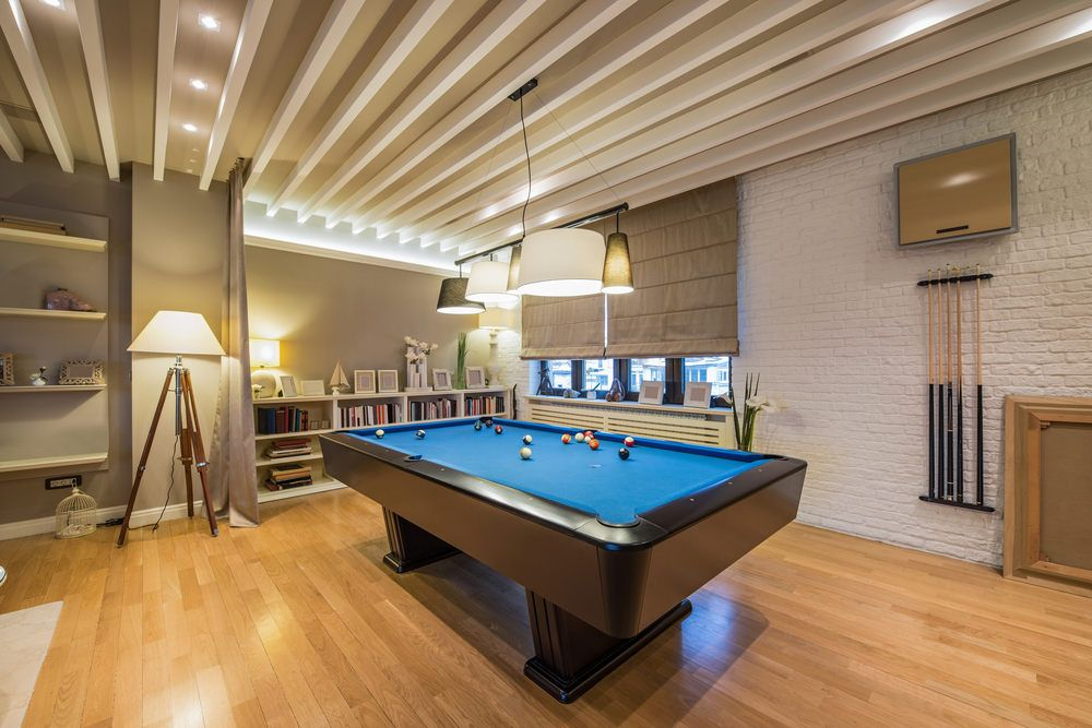 "Custom 12000 Sq Ft Ultra ""elan Smart Home"" Has Theater Gym Bar Prepossessing Pool Table Living Room Design Design Ideas"