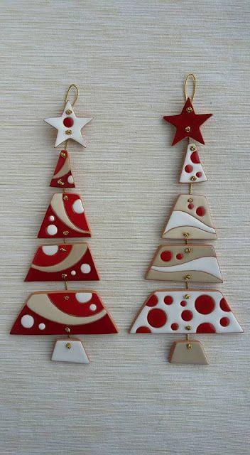 Photo of ceramica come mestiere: Allegri e originali alberi di Natale. Decorazione da par …