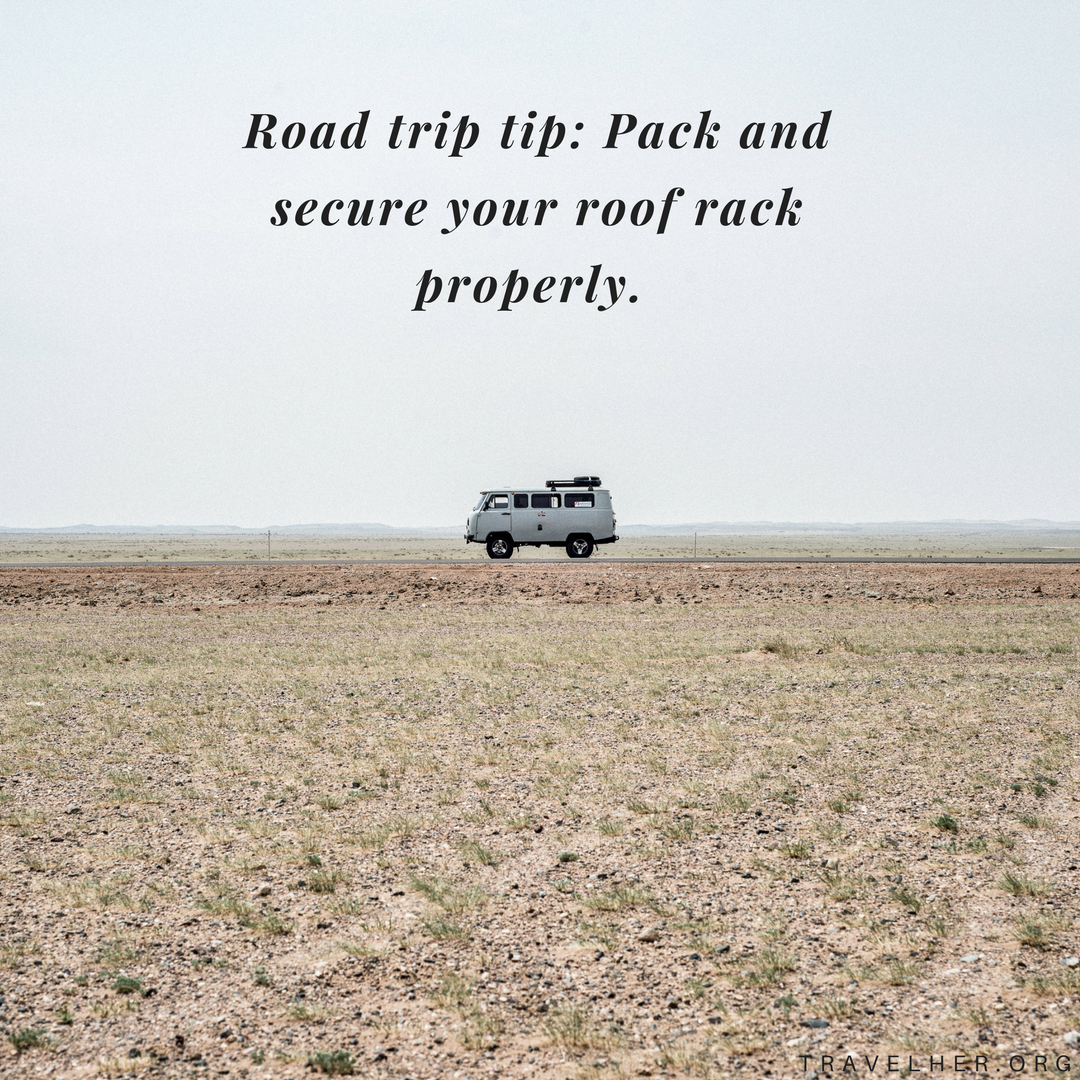 Road Trip Tip Pack And Secure Your Roof Rack Properly Travelhertips Travel Tips Roadtrip Roadtriptip Traveltips Road Trip Hacks Road Trip Female Travel