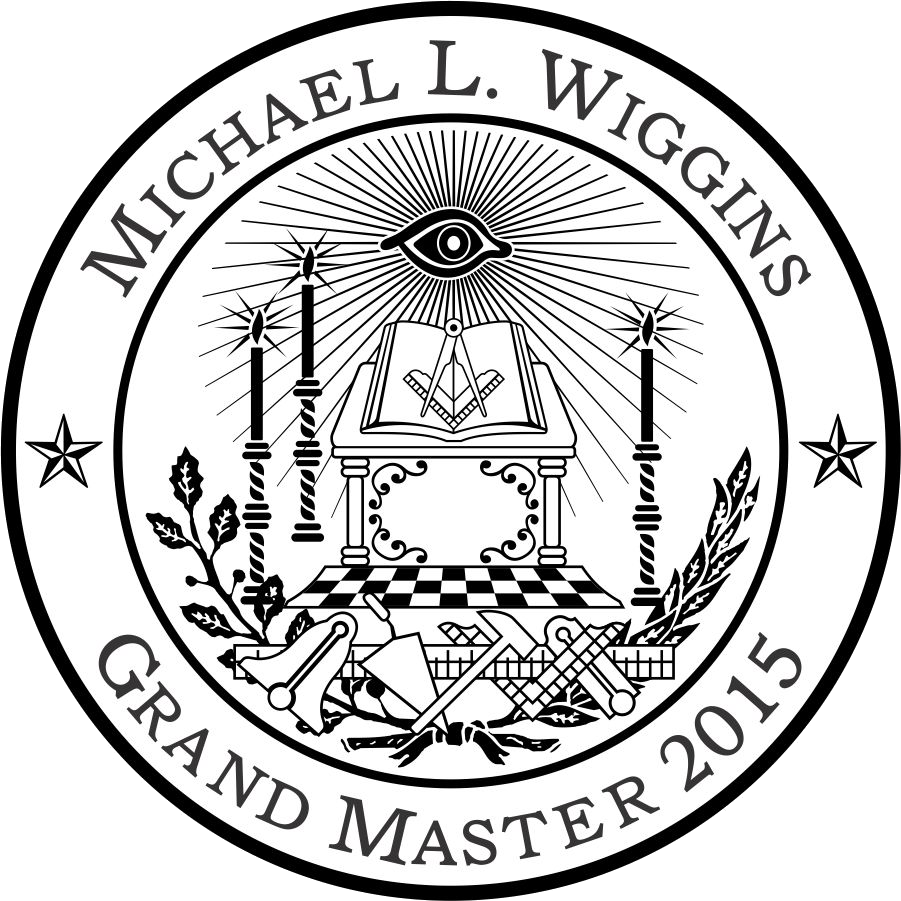 Most Worshipful Micheal L. Wiggins logo. Grand Master of