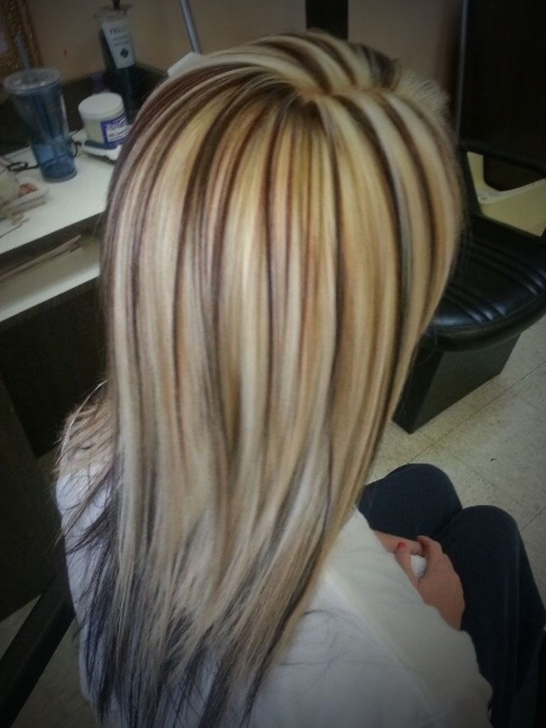 Dark Brown And Blonde Low Lights Brown Hair With Blonde Highlights ...