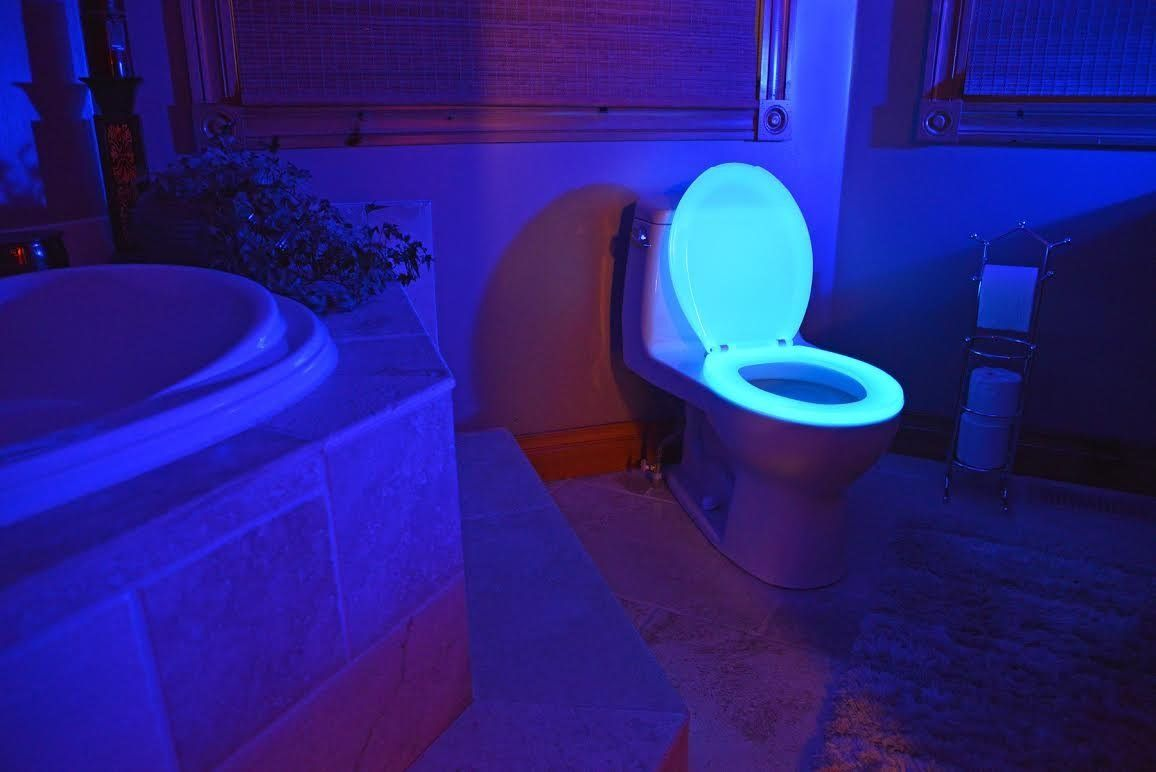 Glow In The Dark Toilet Seat Prevents Accidents With Images