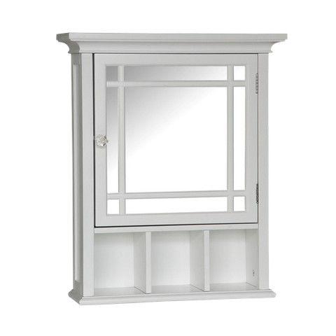 Elegant Home Fashions Neal Wall Cabinet White