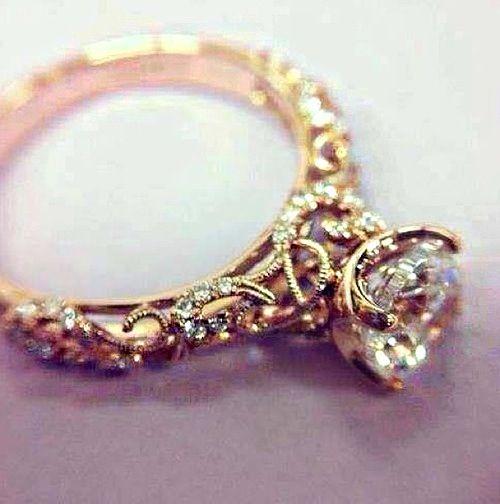 intricate wedding engagement ring floral art artisan ...