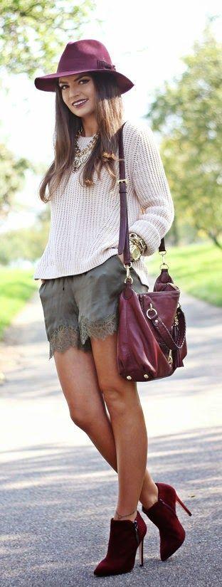 nude/burgundy/khaki autumn colours