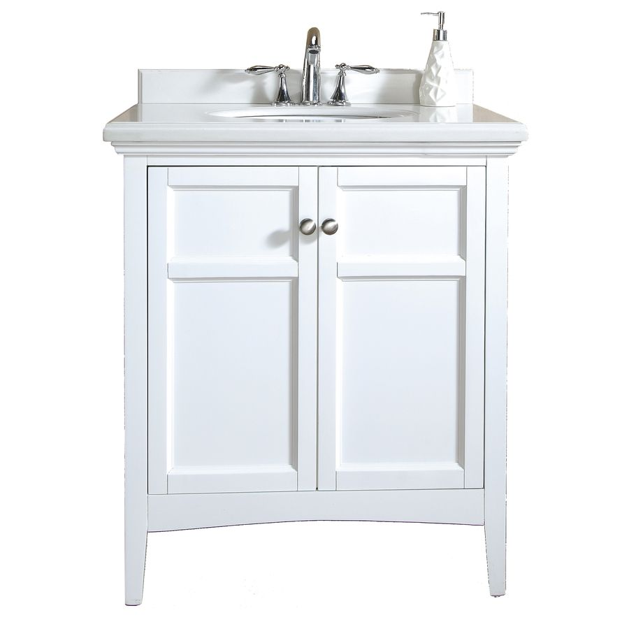 shop ove decors 30 in x 21 in pure white undermount single on lowes vanity id=21209