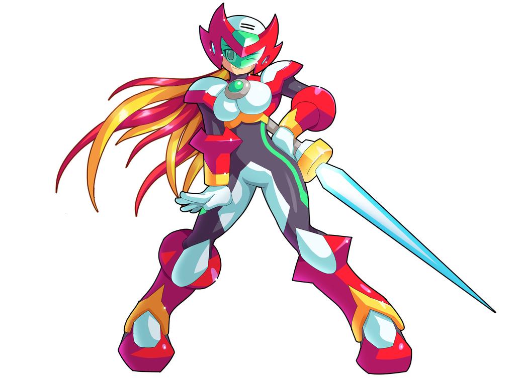 Commission Zero And Rias Fusion By Ultimatemaverickx Mega Man Art Mega Man Dragon Ball Super Manga