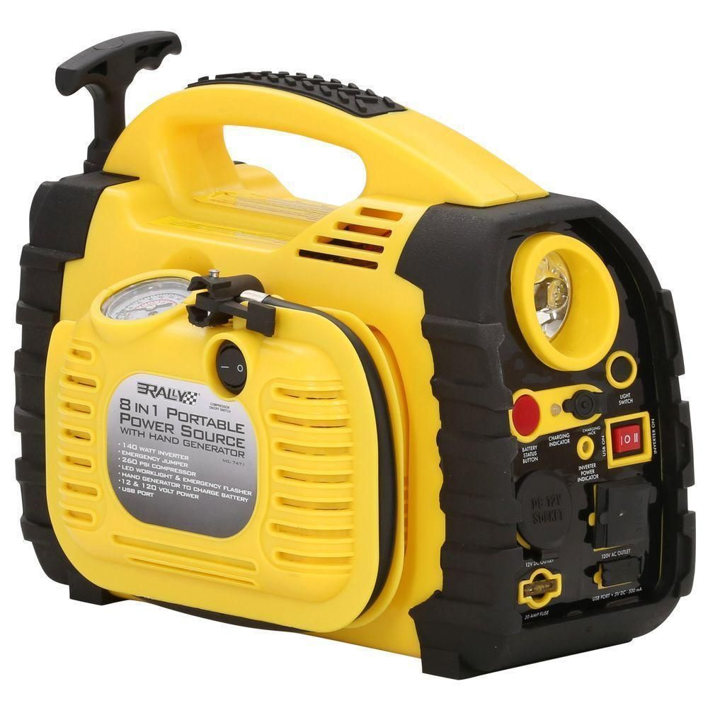 Electric Portable Power Generator With USB Port For