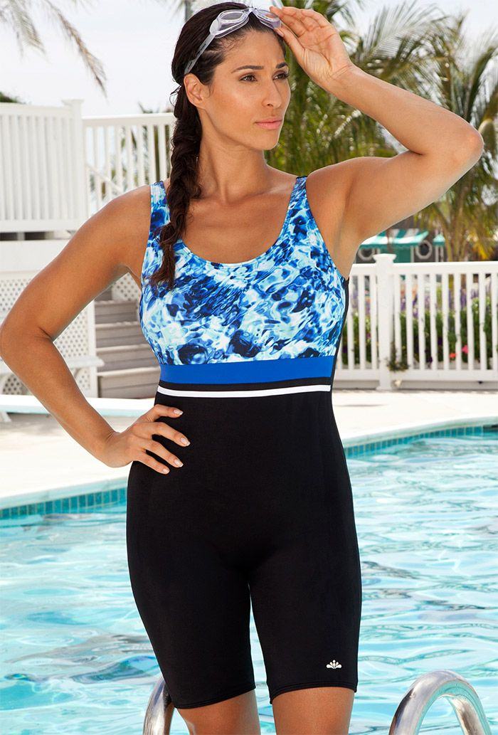 6e219a59e1 Aquabelle Abstract Water Plus Size Aquatard. Find this Pin and more on  Awesome One Piece Swimsuits ...