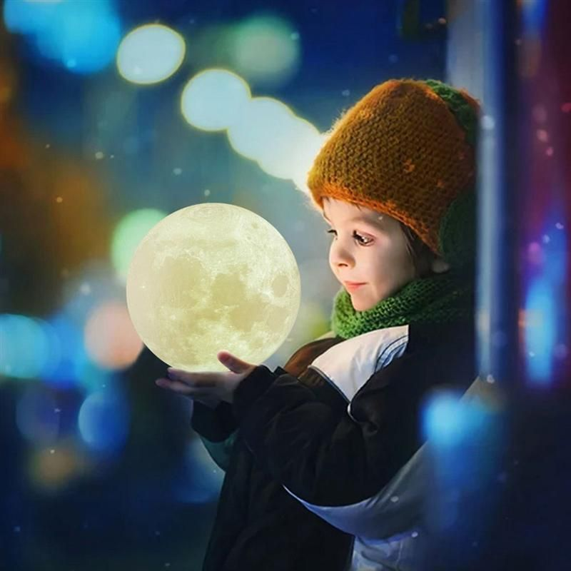 Luna 3d Moon Night Light Lamp Free Worldwide Shipping Limited Stock Remaining Only Sold At Cozydecor Moon Light Lamp Rechargeable Lamp Night Light Lamp