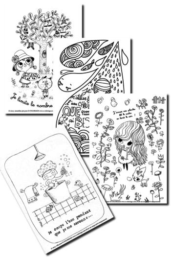 Coloriages économiser Leau Création Education Water Cycle Et