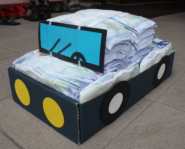 auto baby geschenk geschenkidee windel windelauto. Black Bedroom Furniture Sets. Home Design Ideas