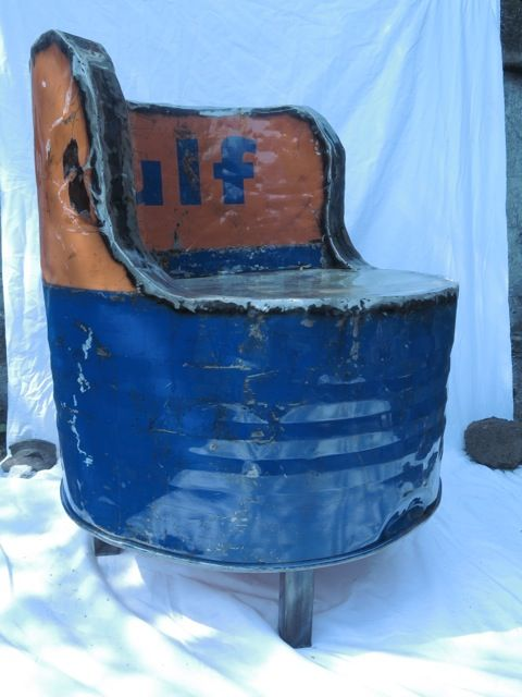 55 Gallon Drum Chair | Asia Barong | Drum creations ...