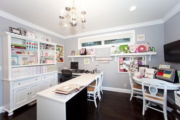 Pretty Craft Room Home Office Lots Of Storage And Lots Of Work